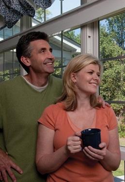 Couple viewing window film