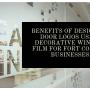 Benefits of Designing Door Logos Using Decorative Window Film for Fort Collins Businesses