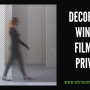 Decorative Window Film For Privacy