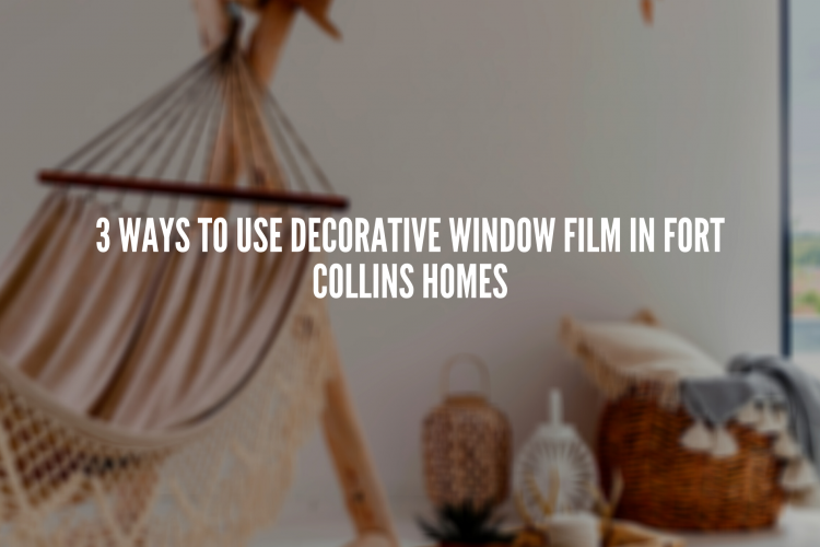 3 Ways to Use Decorative Window Film In Fort Collins Homes