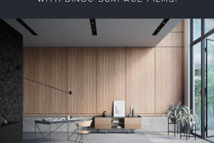 Update Your Commercial Interiors for Less with 3M DiNoc Surface Films!